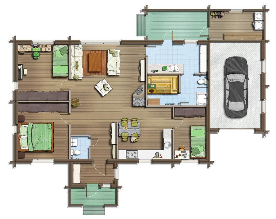 مخطط الطابق أ